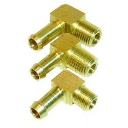 90 Degree Brass Union 1/8th nptf 8mm