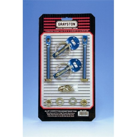 Alloy Competition Bonnett Pin Kit