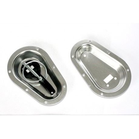 Recessed Bon Pin Plates Silver